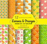 Lemons and Oranges: 12 Free Fruity Patterns