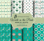 8 Green Nature Themed Seamless Photoshop Patterns