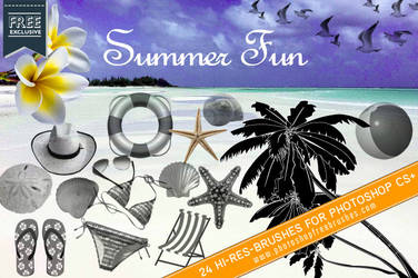 24 Free Summer Fun Photoshop Brushes by fiftyfivepixels
