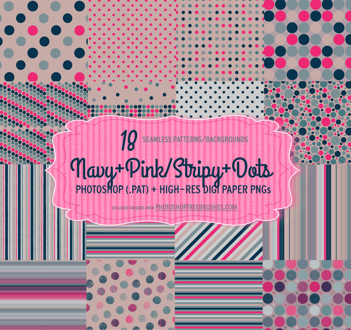 18 Navy Pink Polka Dots Patterns and Backgrounds
