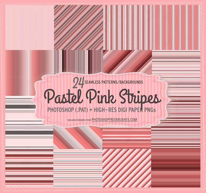24 Pastel Pink Striped Patterns and Backgrounds by fiftyfivepixels