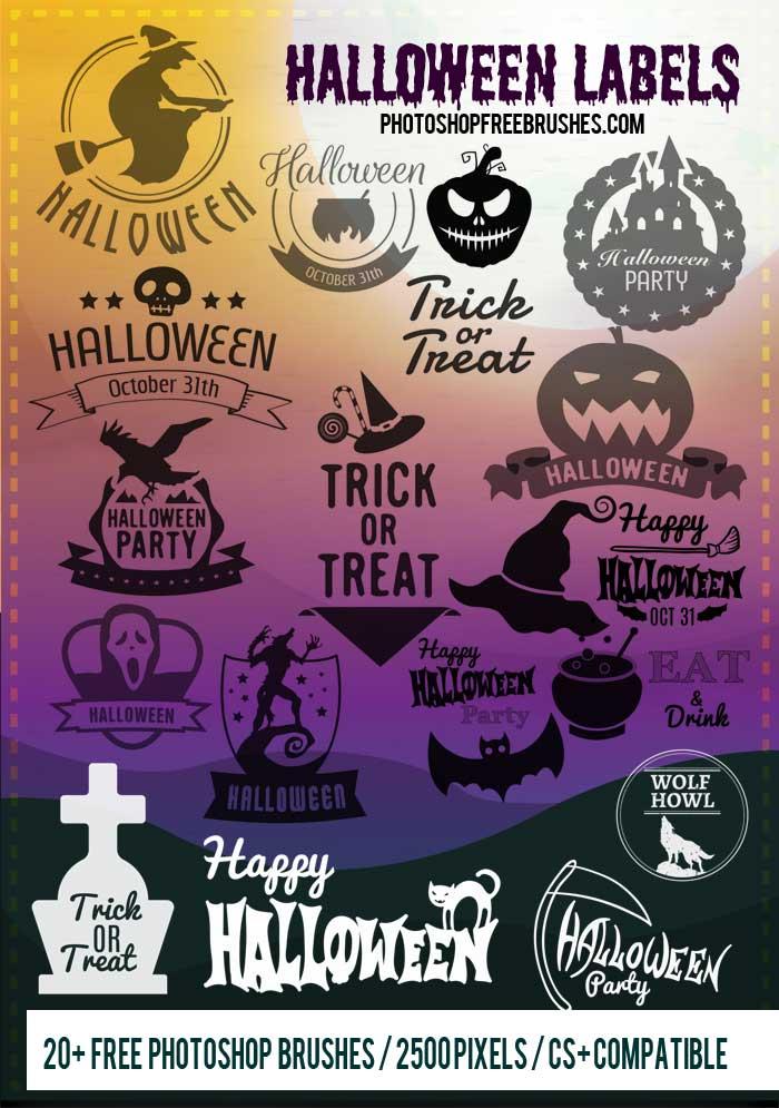 20+ Halloween Logo, Label Brushes Vol. 2