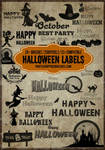 20+ Halloween Tag and Label Photoshop Brushes Vol.