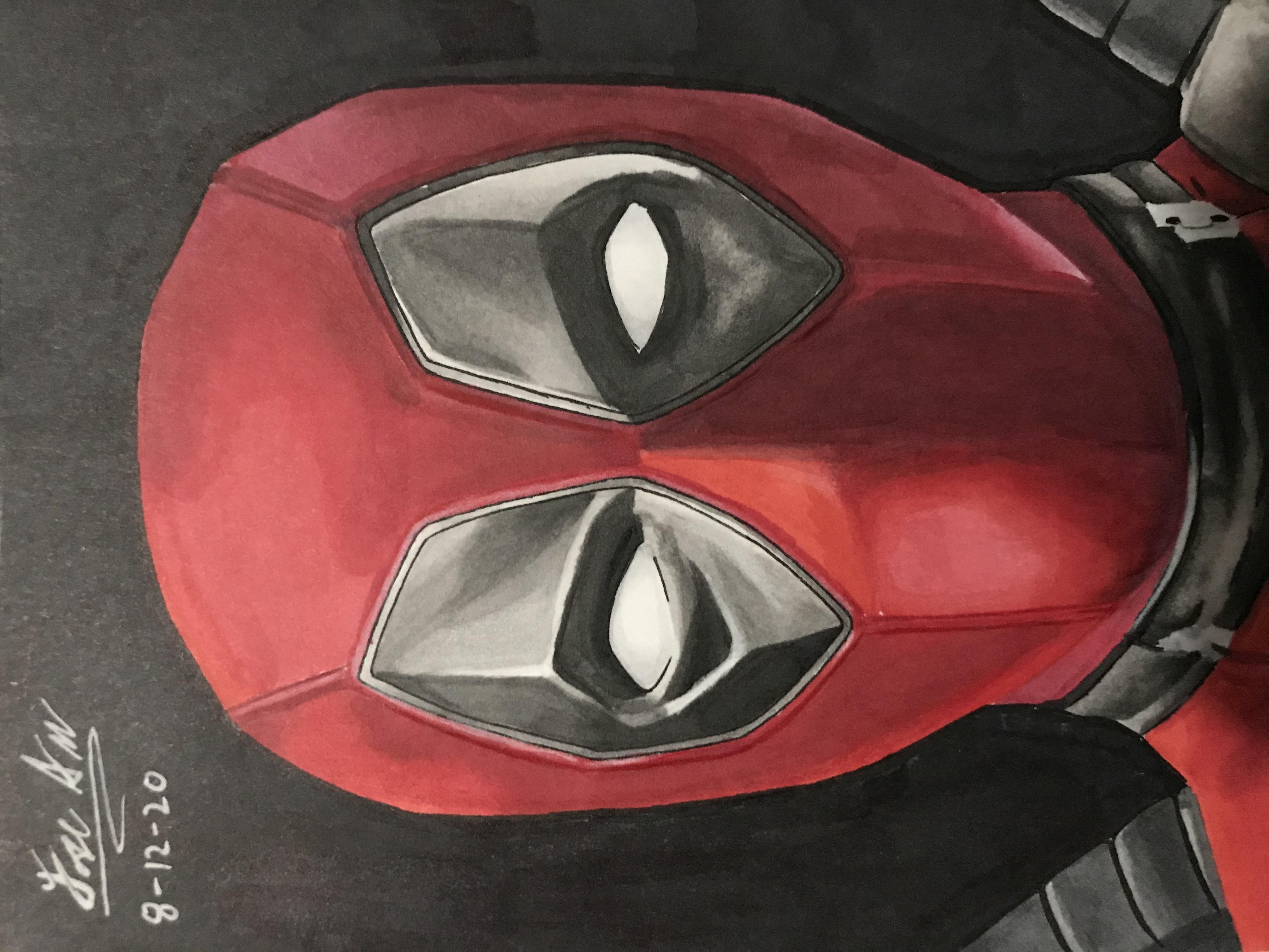 Realistic Deadpool Drawing By Alfredomirajf On Deviantart