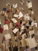 A rain of books by chocothemonkey