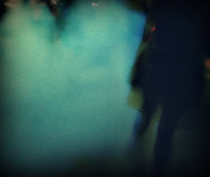 a girl in the smoke