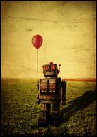 sad robot by natdatnl