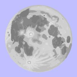 Pixel Moon by truepredator