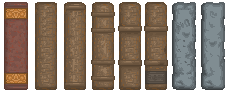 Menu: Book Spines by truepredator