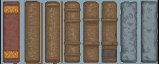 Menu: Book Spines by truepredator