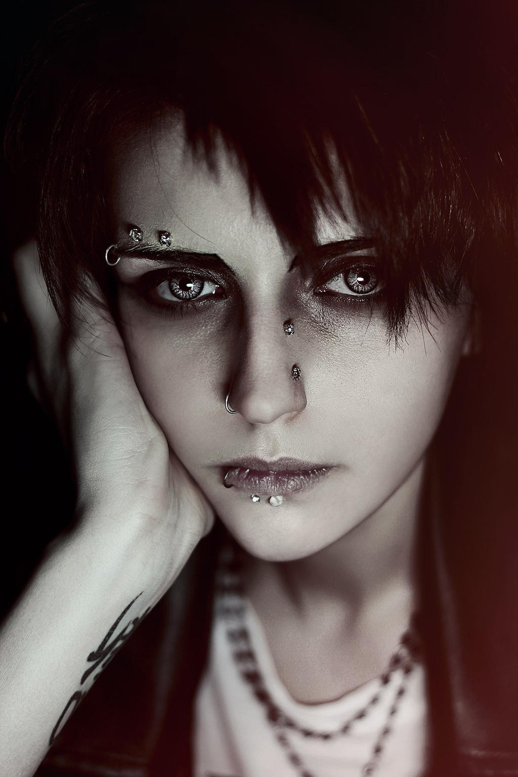 Shingeki no Kyojin:   young punk Levi (original) by GeshaPetrovich