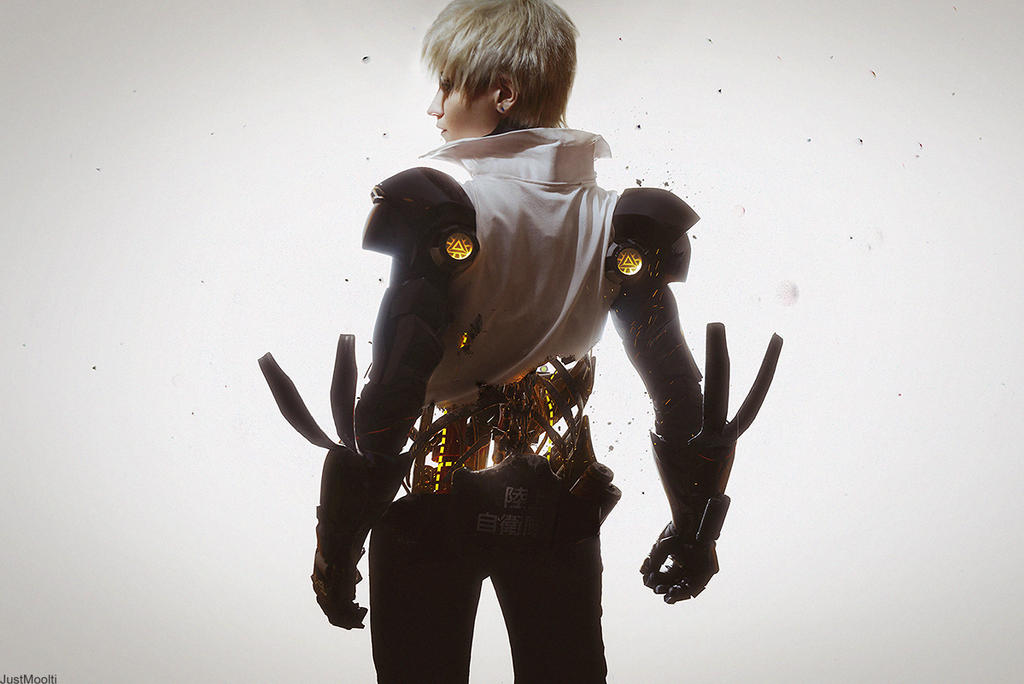 Demon Genos. One Punch Man by GeshaPetrovich