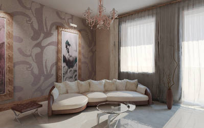 sunny livingroom by berenika
