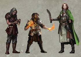 The Lost Heralds - Player Characters by pixieface