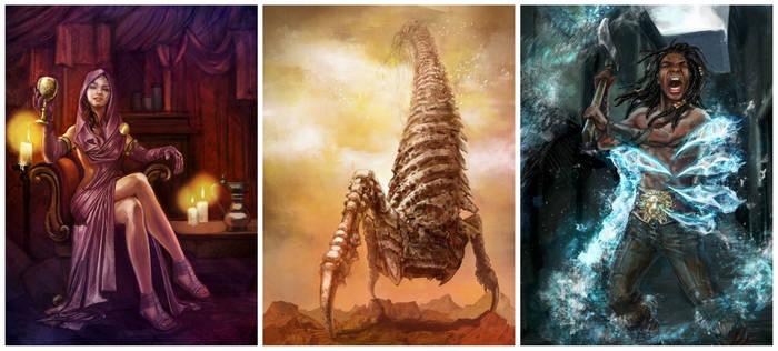 3 Sasquatch Games Illustrations