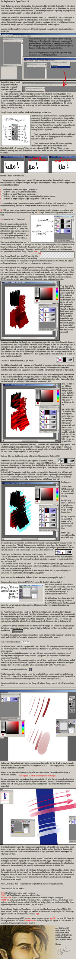 Open Canvas Tutorial, part 1 by pixieface