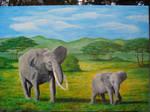 Elephants by zaboss3