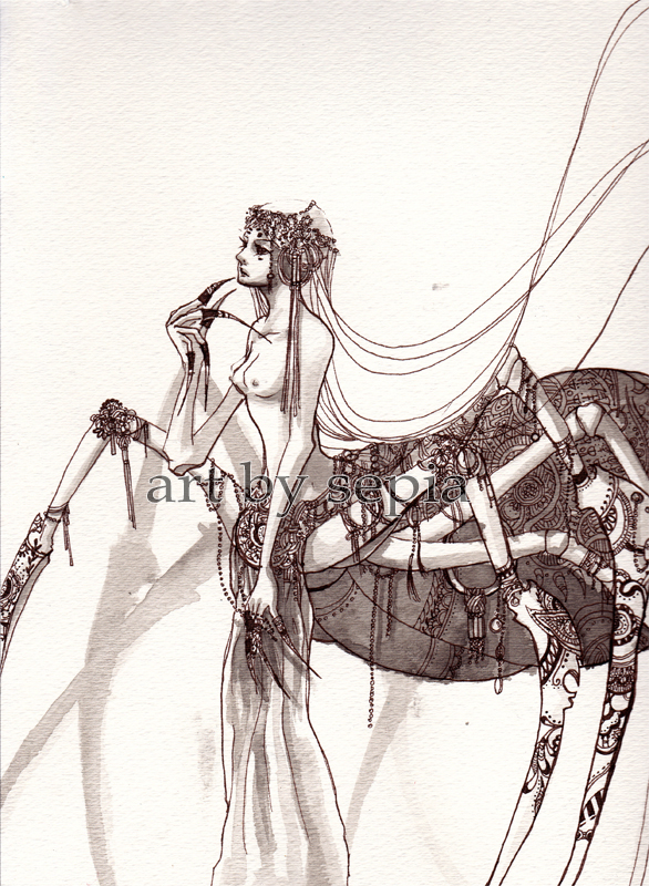 Spider Princess by Sepia-Heart