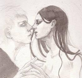 kiss by Sepia-Heart