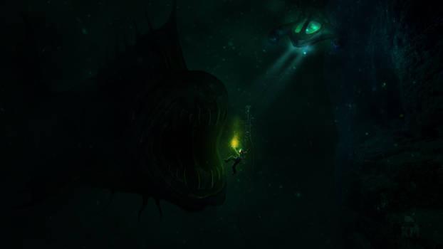 In dangerous depths