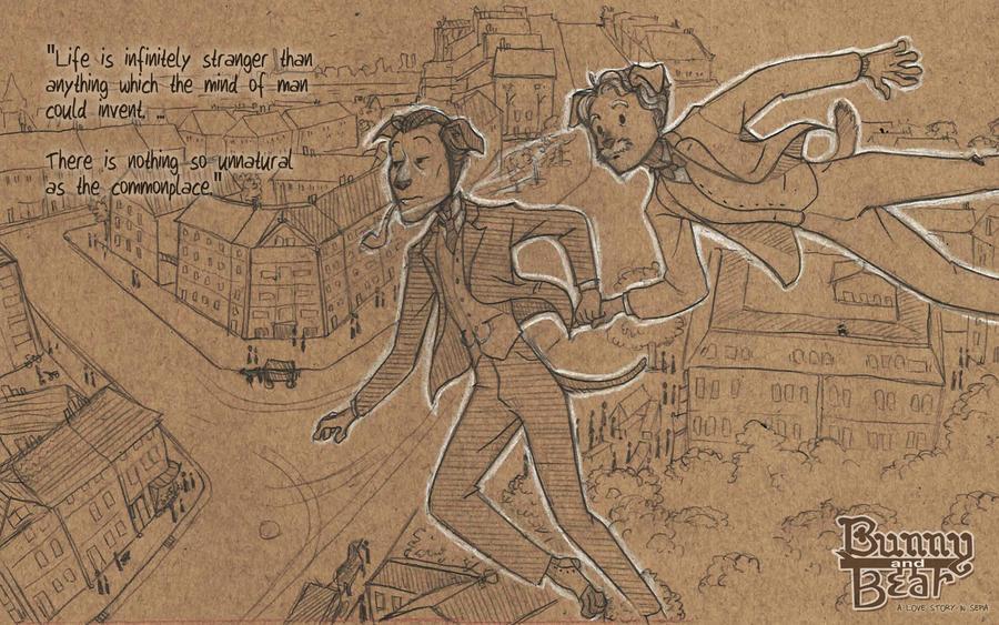 BB Wallpaper - Sherlock Holmes by Windmaedchen