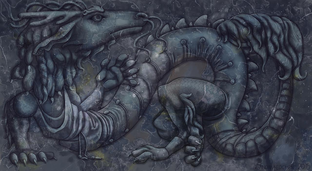 Stone Dragon by Windmaedchen