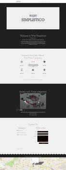 West Simplistico Website Template by vik-west
