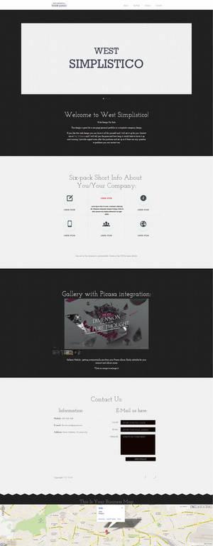 West Simplistico Website Template