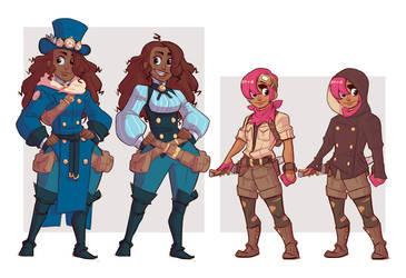 Adelie and Pia character sketches by stplmstr