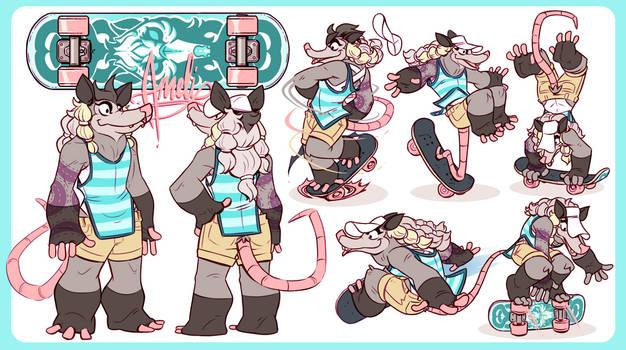 CDChallenge- Animal Skate Park- Ameli Opossum
