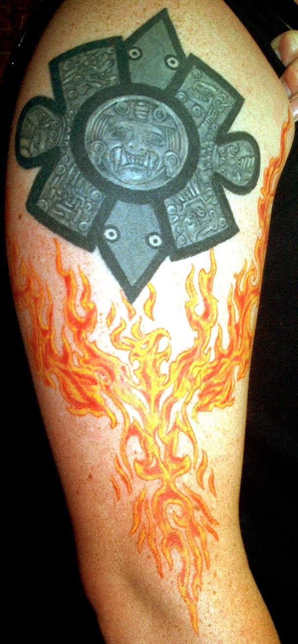Aztec phoenix by furious247 on deviantart for Aztec tattoo shop phoenix az
