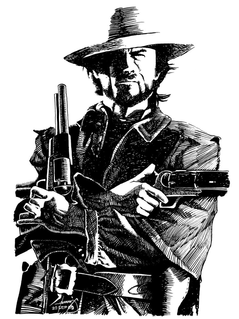 Coloring Pages Cowboy Reel