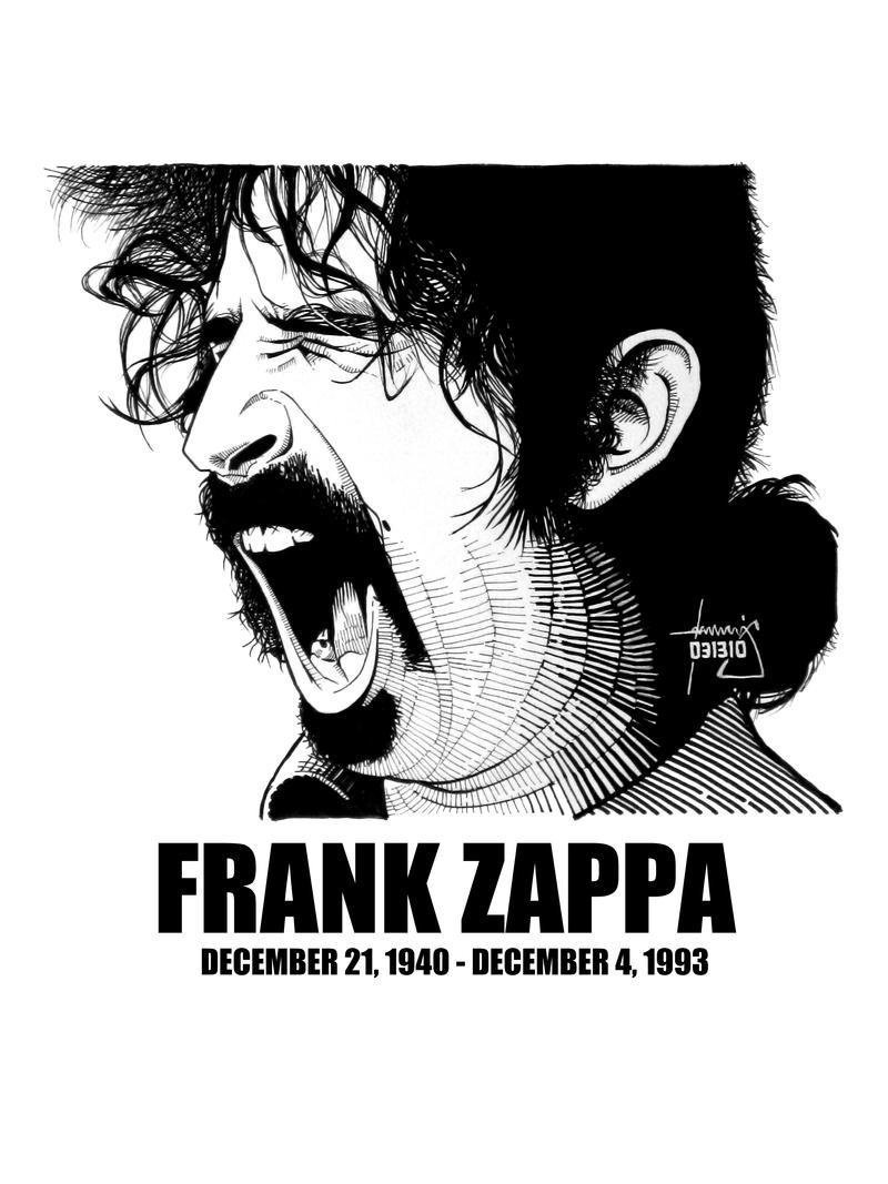 Frank Zappa Mustache Logo Decal