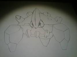 Boldore - Pencil Outline by SmashBrawlR7538