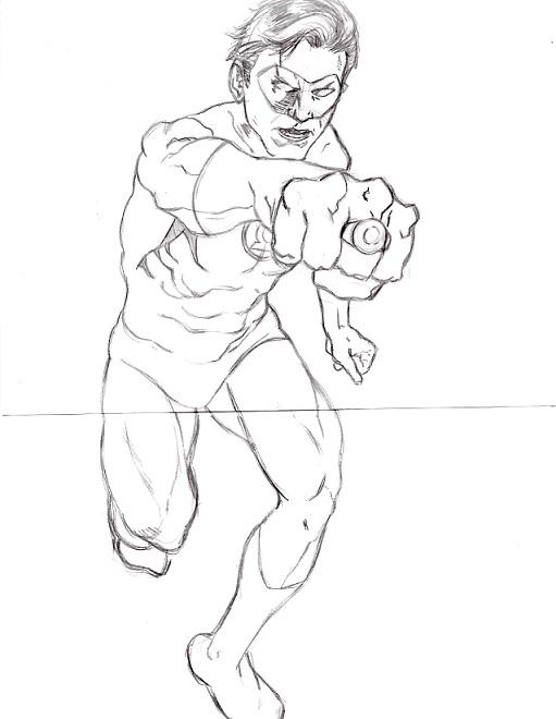 Green Lantern Pencil Drawings