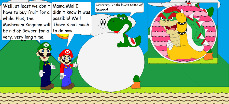 Yoshi ate Bowser 2.0 by SuperUltraMarioFan