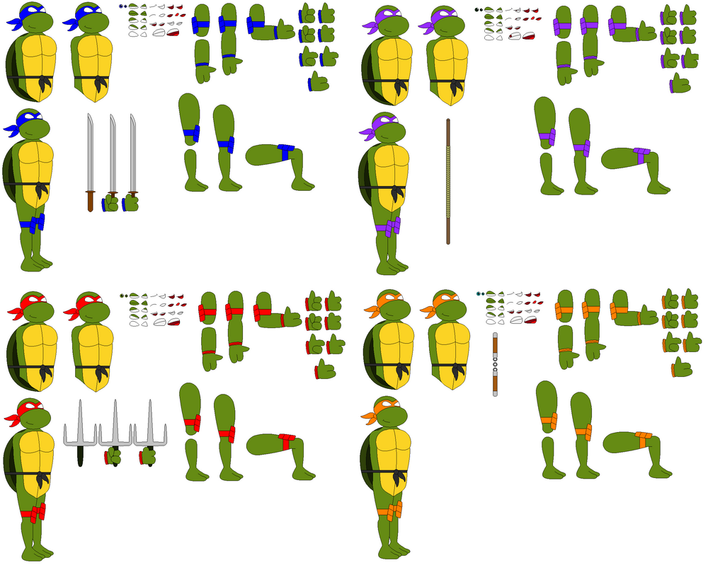 TMNT Template By RyGaLo ...