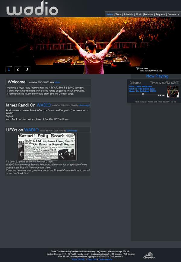 Wordpress Styled Theme by J-MGraphics650