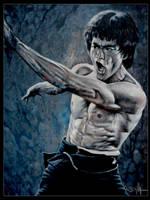 Bruce Lee fighting ETD by tonio48