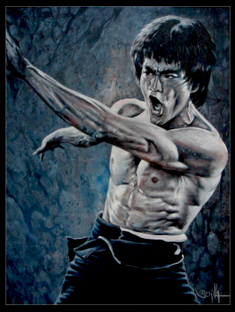 Bruce lee fighting etd by tonio48 on deviantart for Lee s painting