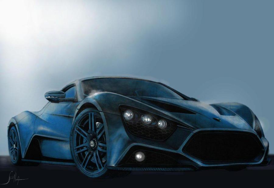 Zenvo St1 Blue Zenvo St1 by Tonio48
