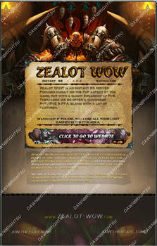 Recreation of Zealot WoW Advertizement Post