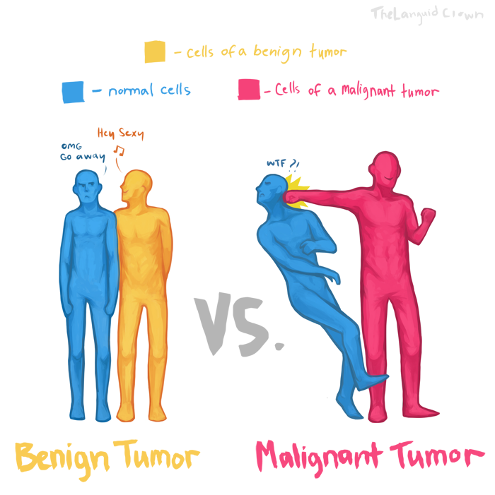 difference between benign and malignant tumors by thelanguidclown, Skeleton