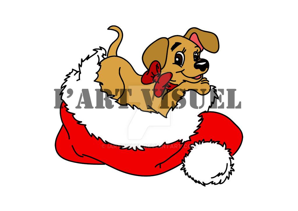 Dog christmas by I'art Visuel by IartVisuel