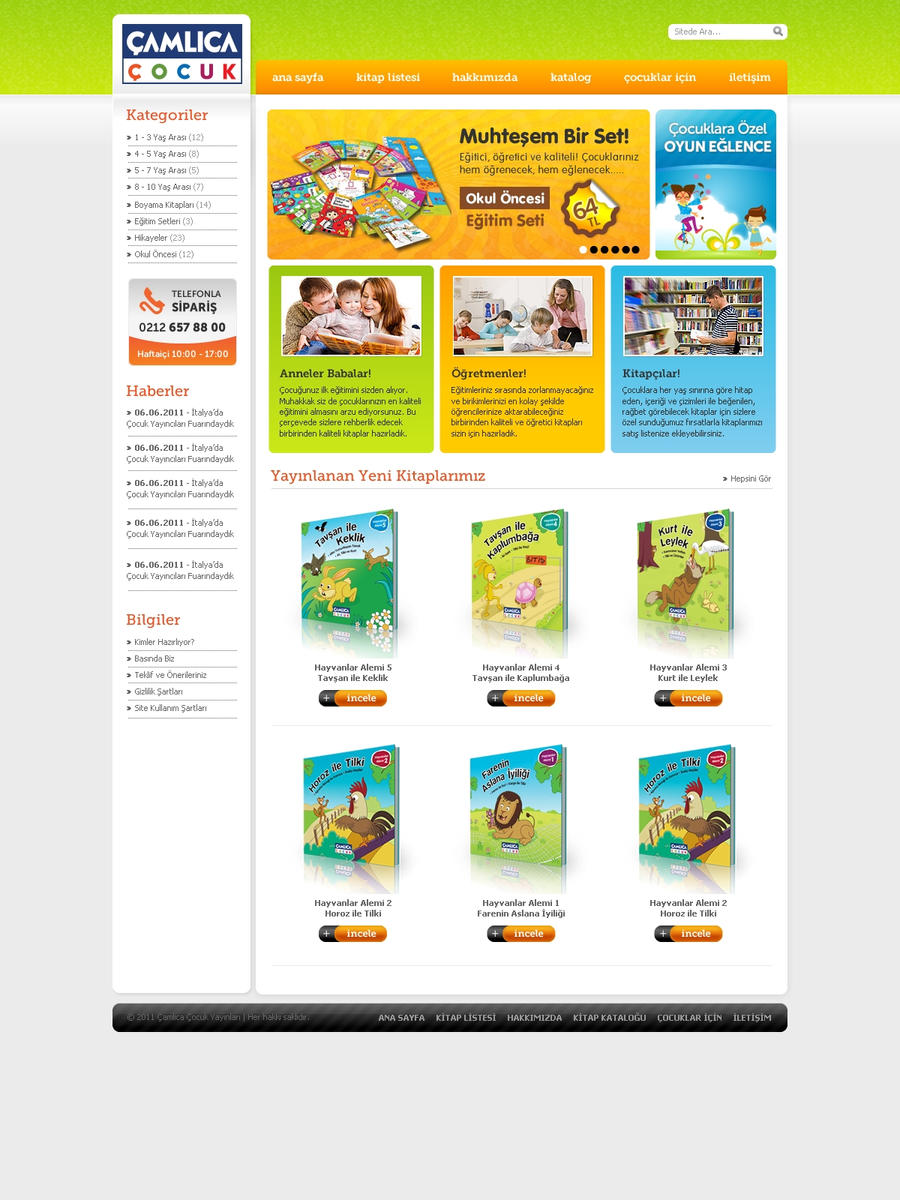 Camlica Cocuk Web Site by siracel