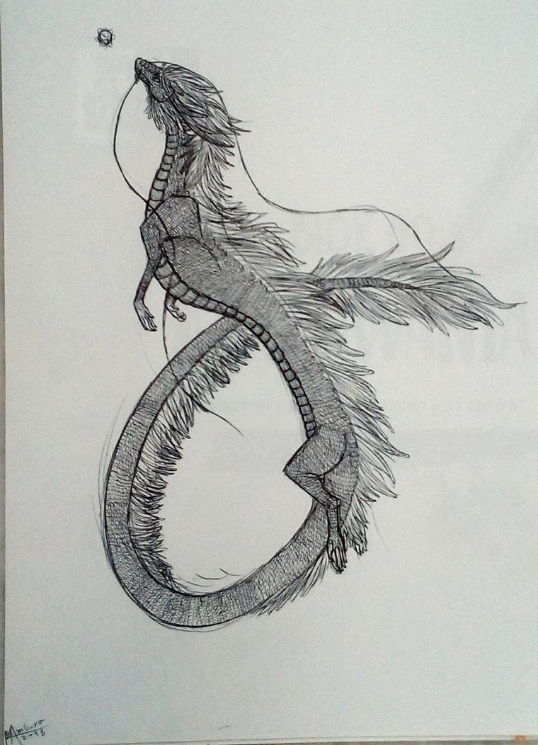 Chinese dragon by FeatherAmbara