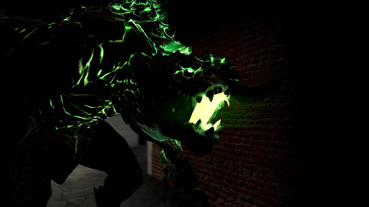 Glowing Deathclaw by FeatherAmbara