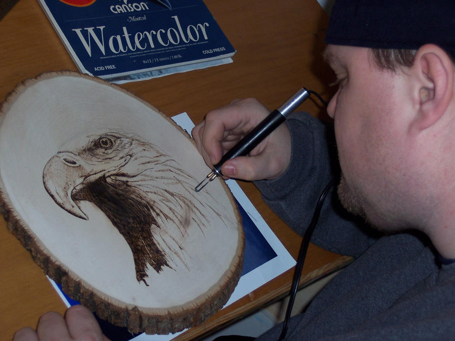 me working on wood burning by Vsemb