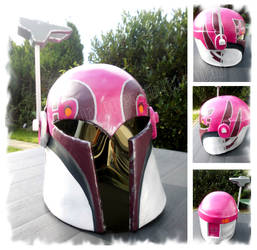 Scratch-built Sabine helmet by Troopergirl