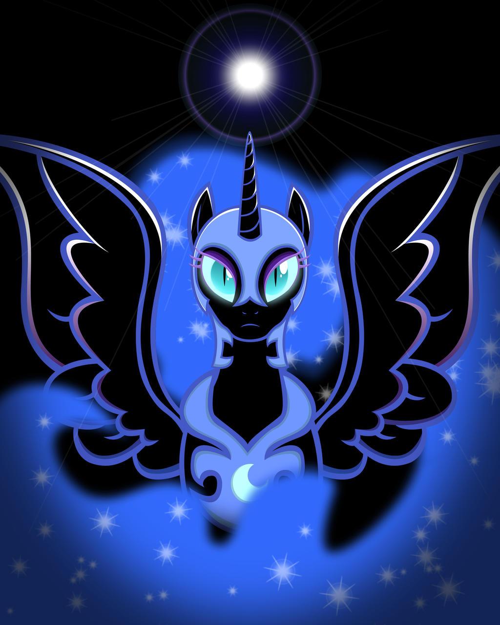 (REMASTERED) Nightmare Moon Shines Bright by DarkLight02